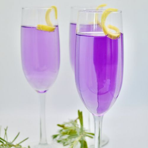 Lavender and Vanilla Vodka Cocktail