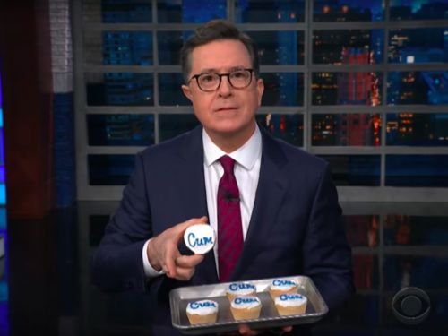 Watch: Stephen Colbert Made 'Cum' Cakes After Publix's Censorship Fiasco
