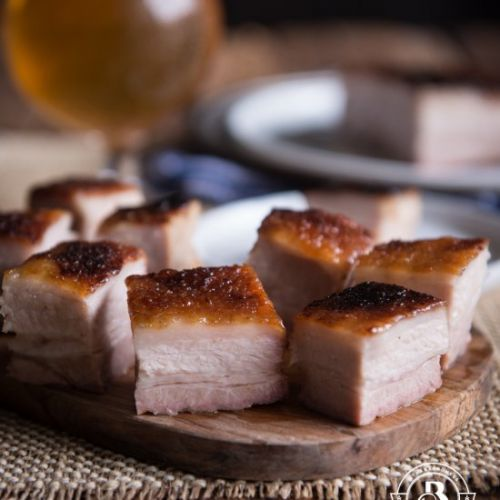 Maple Beer Glazed Crispy Pork Belly
