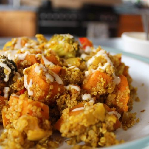 Derefine | Quinoa with Roasted Veg
