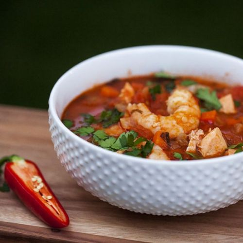 Salmon and Shrimp Stew with Thyme
