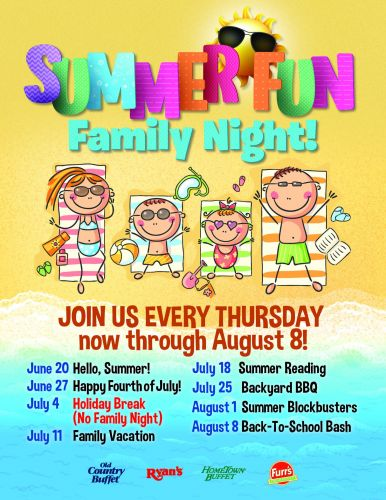 Ovation Brands and Furr's Fresh Buffet Launch into Summer Fun with Family Night, Starting June 20