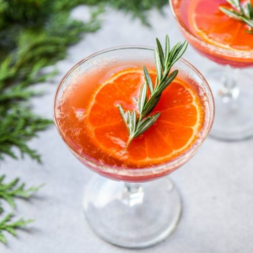 Tangerine Red Wine Spritzer
