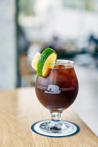 Houndstooth Coffee Drink: Ginger Oh, Snap!