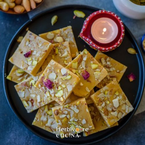 Super Easy Milk Powder Barfi