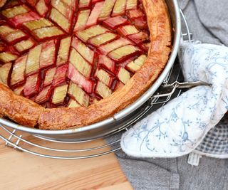 Easy Gorgeous Rhubarb Strawberry Pie With Coconut Whipped Cream
