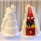 These Two-Sided Marvel Cakes Are Perfect For the Couple Who Can't Agree on a Theme