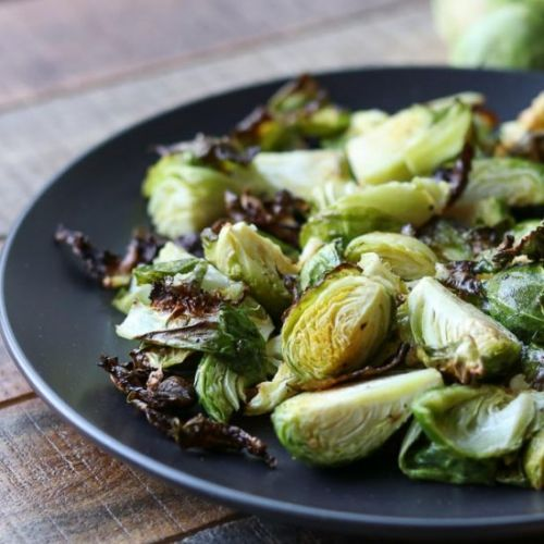 Sesame Air Fried Brussels Sprouts