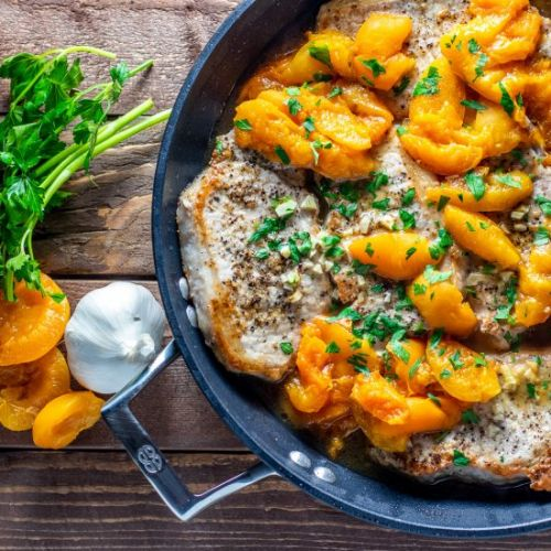 One Pan Honey Apricot Pork Chops