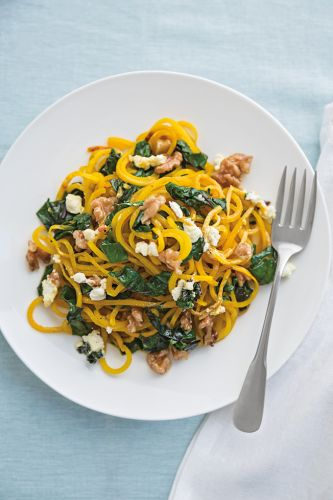 Golden Beet Pasta with Beet Greens and Goat Cheese