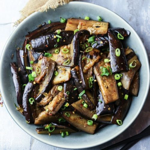 Garlic and Chilli Aubergine