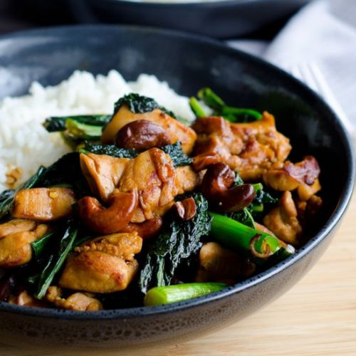 KUNG PAO CHICKEN WITH TUSCAN KALE