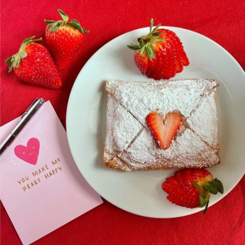 Strawberry Love Letter Pastries