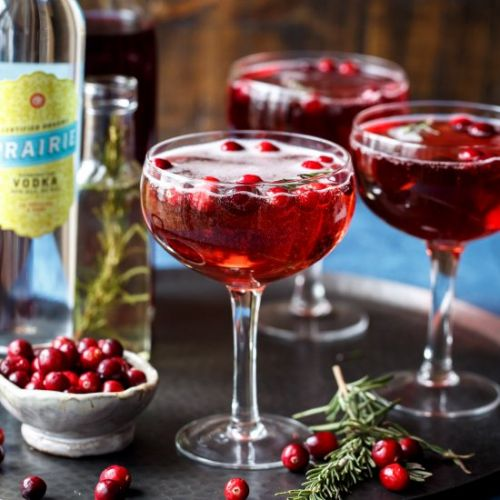 Sparkling Cranberry Cocktails