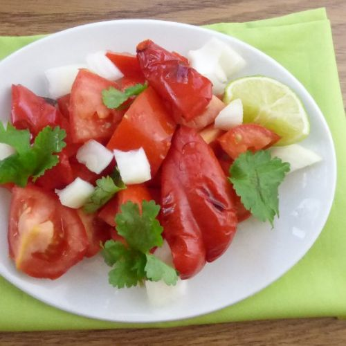 Homemade Salsa with Roasted Peppers