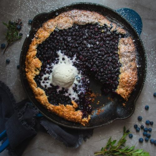 Wild Blueberry Biscuit Galette