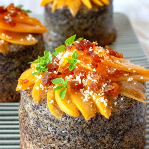 Poppy Seed Cakes with Apricots