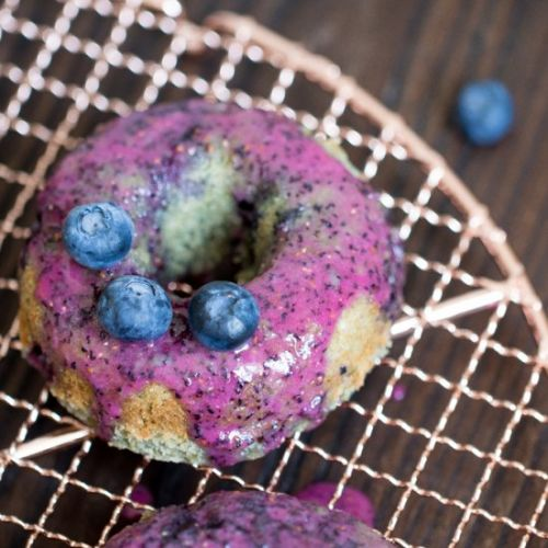 Blueberry Vegan Donuts