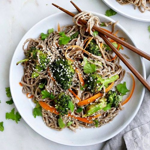 Peanut Soba Noodles with Broccoli