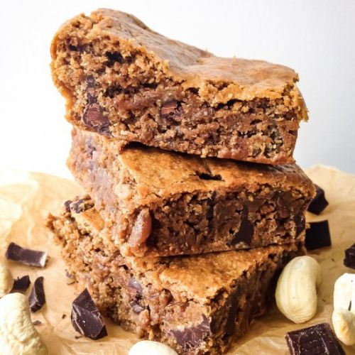 Vegan Chocolate Chunk Blondies