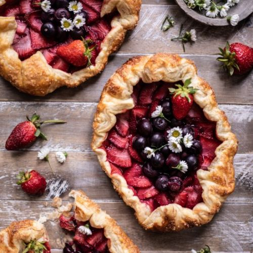 Double Berry Puff Pastry Galettes