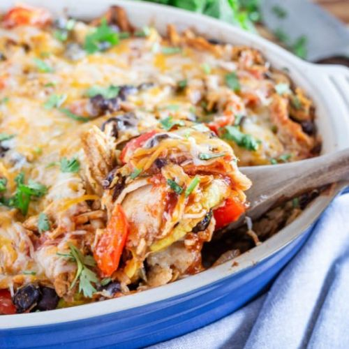 Chicken & Roasted Veggie Enchilada
