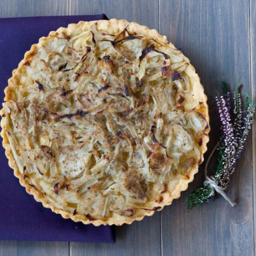 Quiche with fennel and anchovies