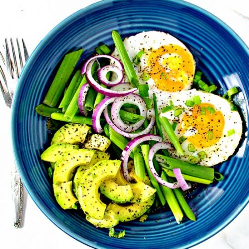 Sunny Side Up Eggs with Avocado