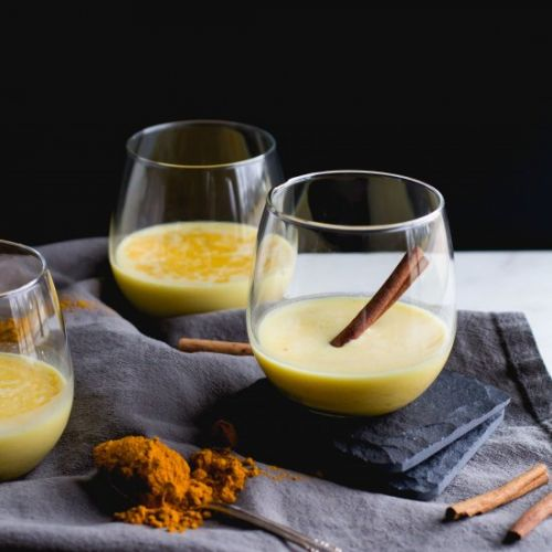 Creamy Turmeric + Bourbon Cocktail
