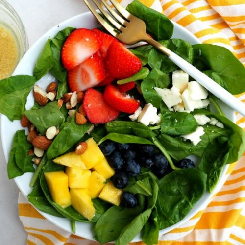 Berries, Almond, Mango Salad
