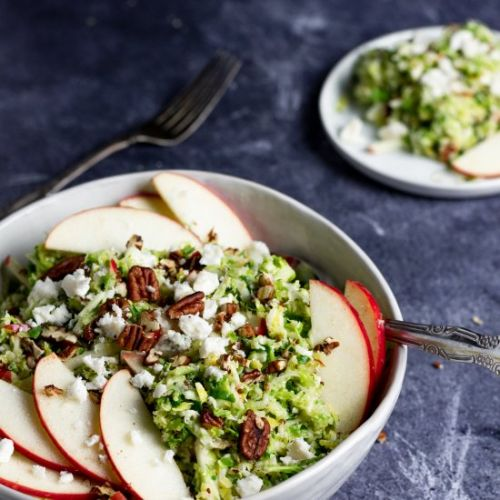 Shaved Brussel Sprout & Apple Salad