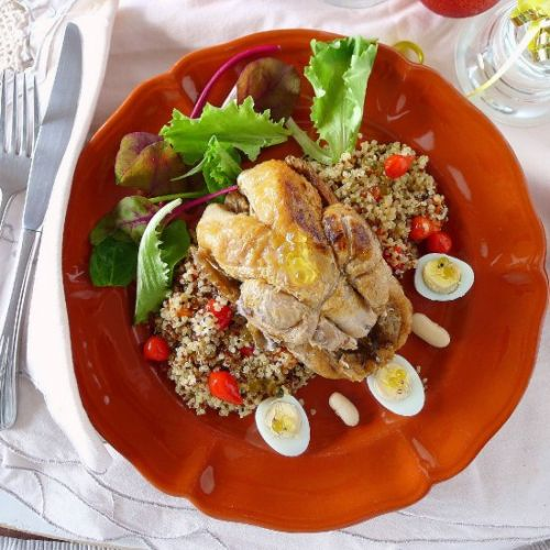 Quinoa Salad with Partridge