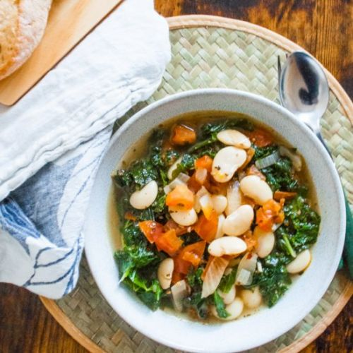 Kale, Butter Bean, and Tomato Stew
