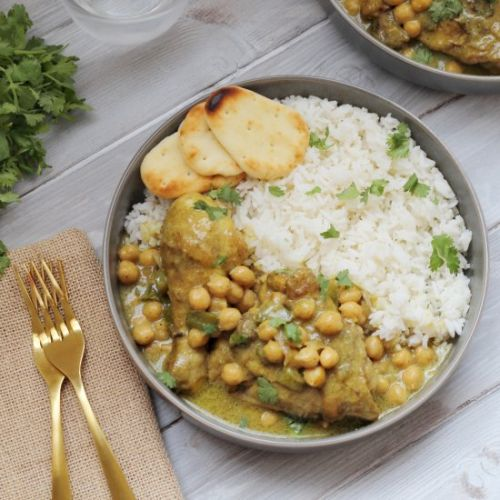 Coconut Chicken Curry with Chickpea