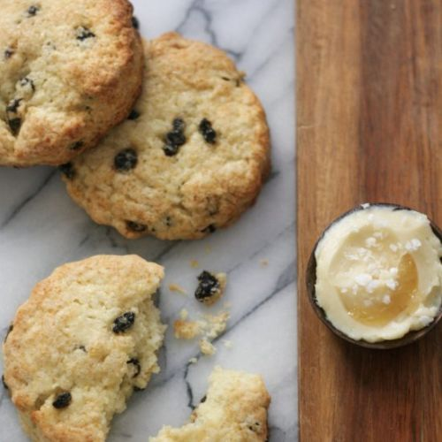 Currant Biscones with Maple Butter