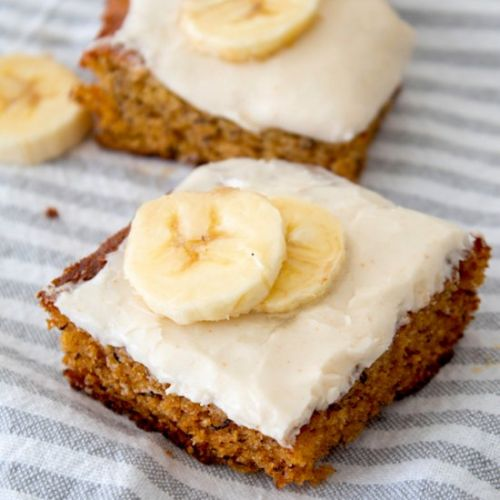 Banana Bars & Brown Butter Frosting
