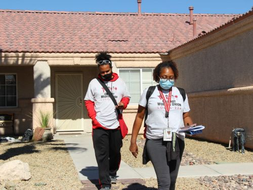 Culinary Union Members Canvass the Streets of Las Vegas, Hoping to Deliver a Nevada Win for Biden