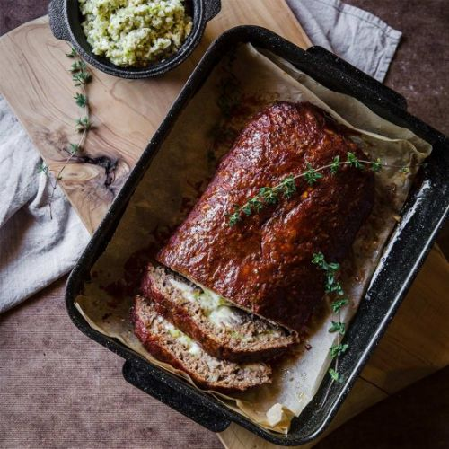 Cheese & Capsicum Stuffed Meatloaf