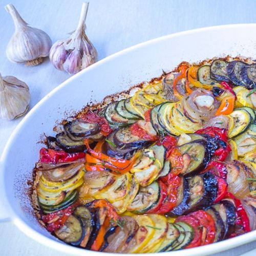 Tian of Vegetables with Garlic