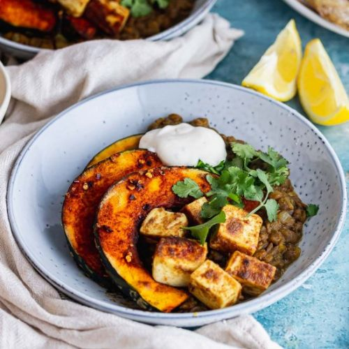 Spicy Lentils with Paneer