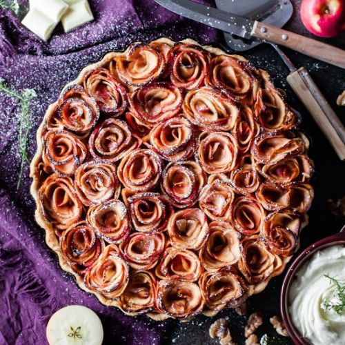 Spiced Rum and Maple Apple Pie
