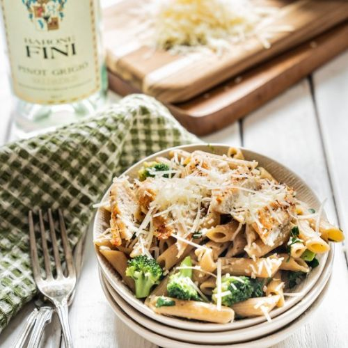 Parmesan Chicken Broccoli Pasta