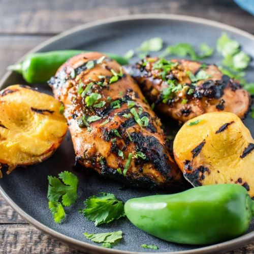 Peach Jalapeño Grilled Chicken