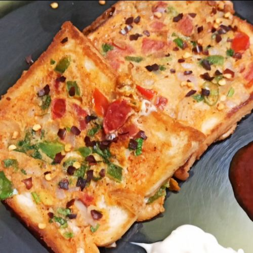 Spicy bread omelette