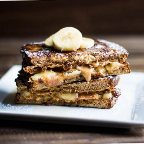 PB Bacon Banana Stuffed FrenchToast