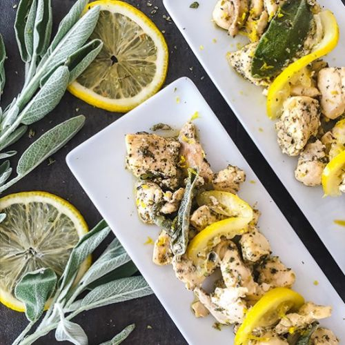Lemon Flavored Chicken with Sage