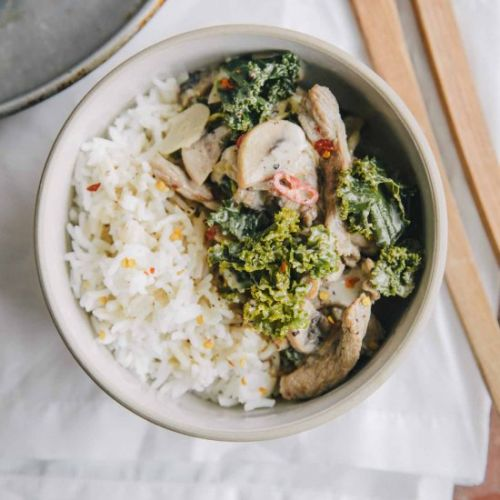 Beef Stroganoff with Kale