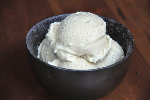 Honey, Lavender, and Vanila Bean Ice Cream