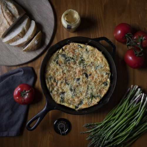 Asparagus Frittata & Red Snappers