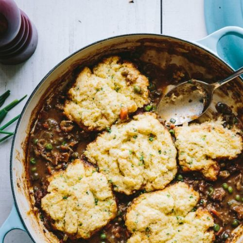 Crawfish Étouffée w/ Chive Biscuits